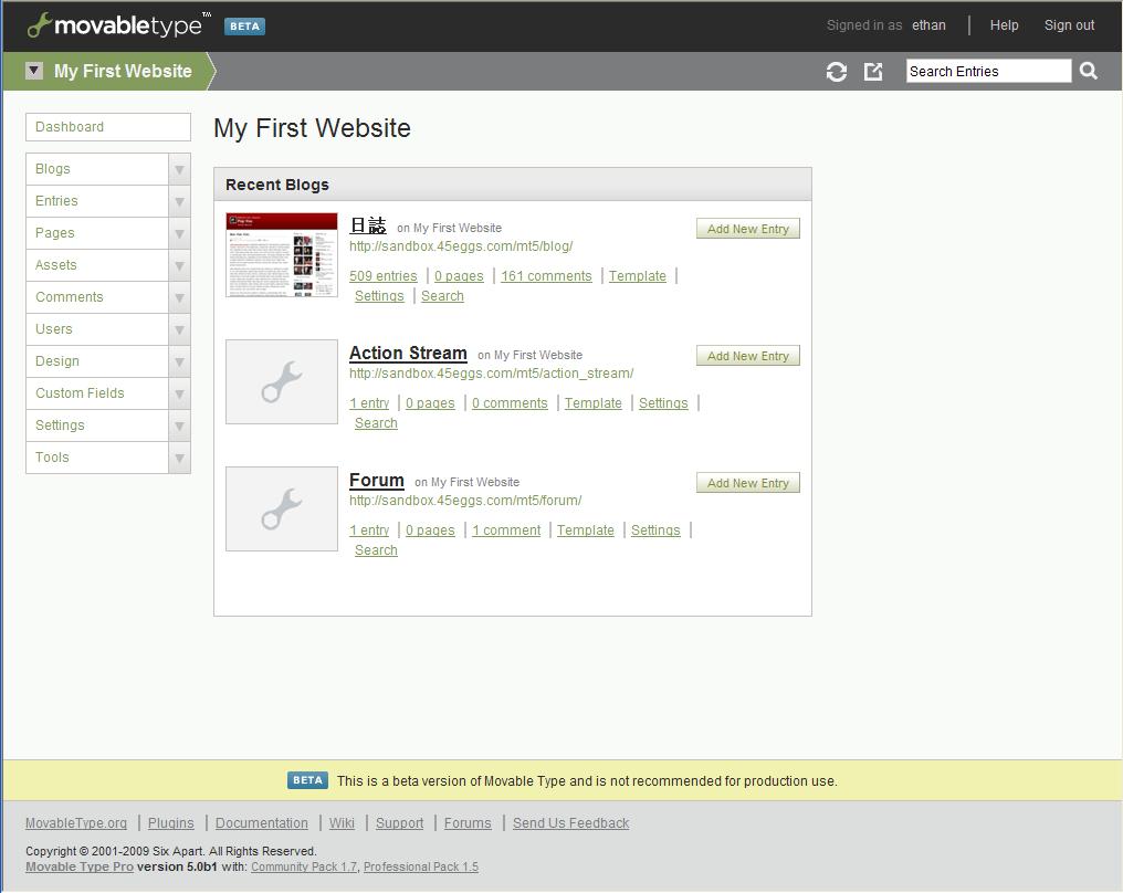 MT5后台管理Website页面